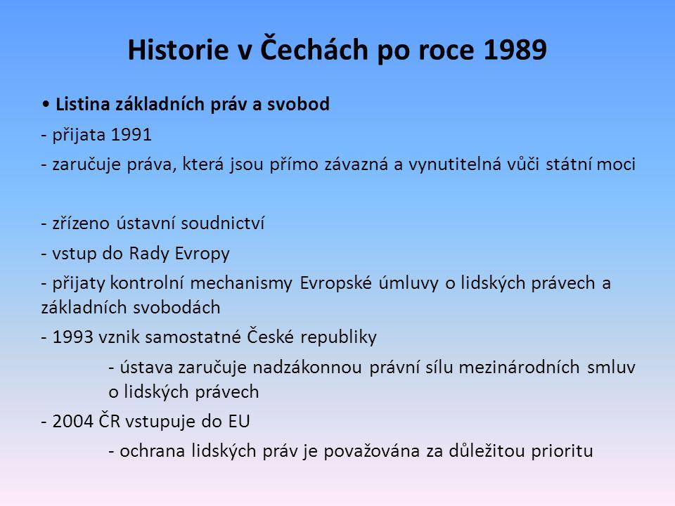 Historie v Čechách po roce 1989