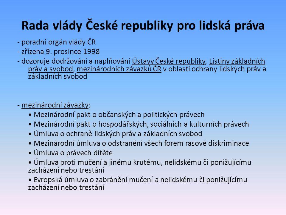 Rada vlády České republiky pro lidská práva