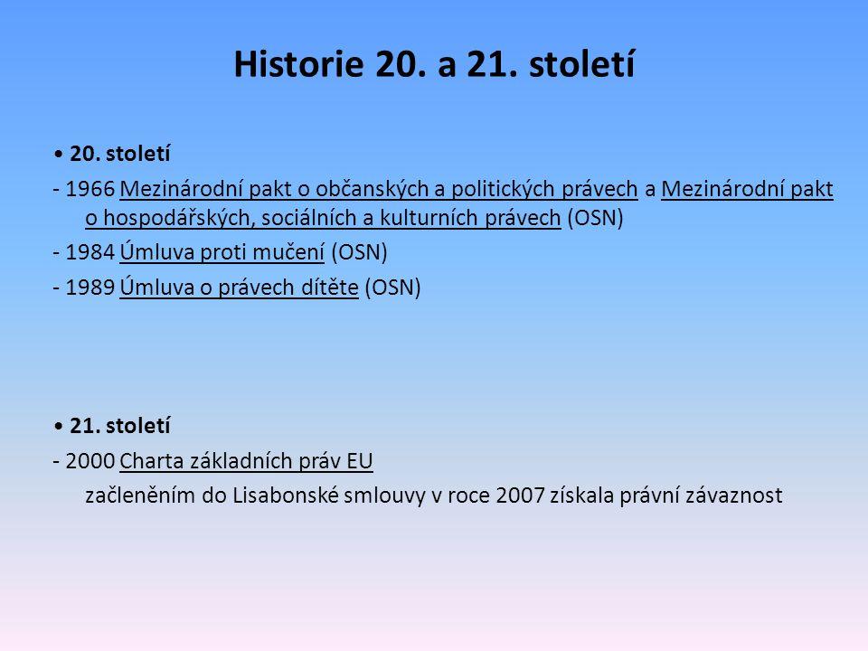 Historie 20. a 21. století • 20. století