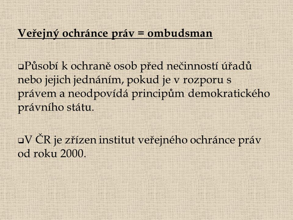 Veřejný ochránce práv = ombudsman