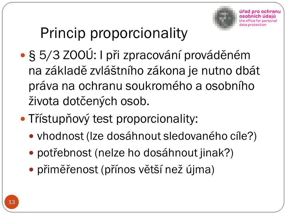 Princip proporcionality
