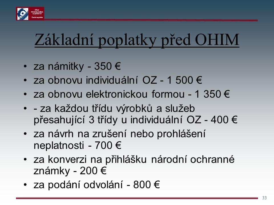 Základní poplatky před OHIM