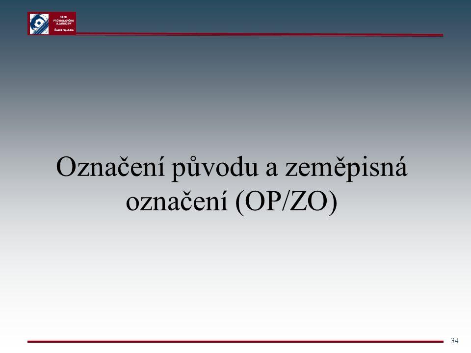 Označení původu a zeměpisná označení (OP/ZO)