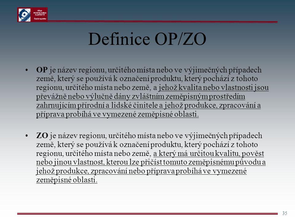 Definice OP/ZO