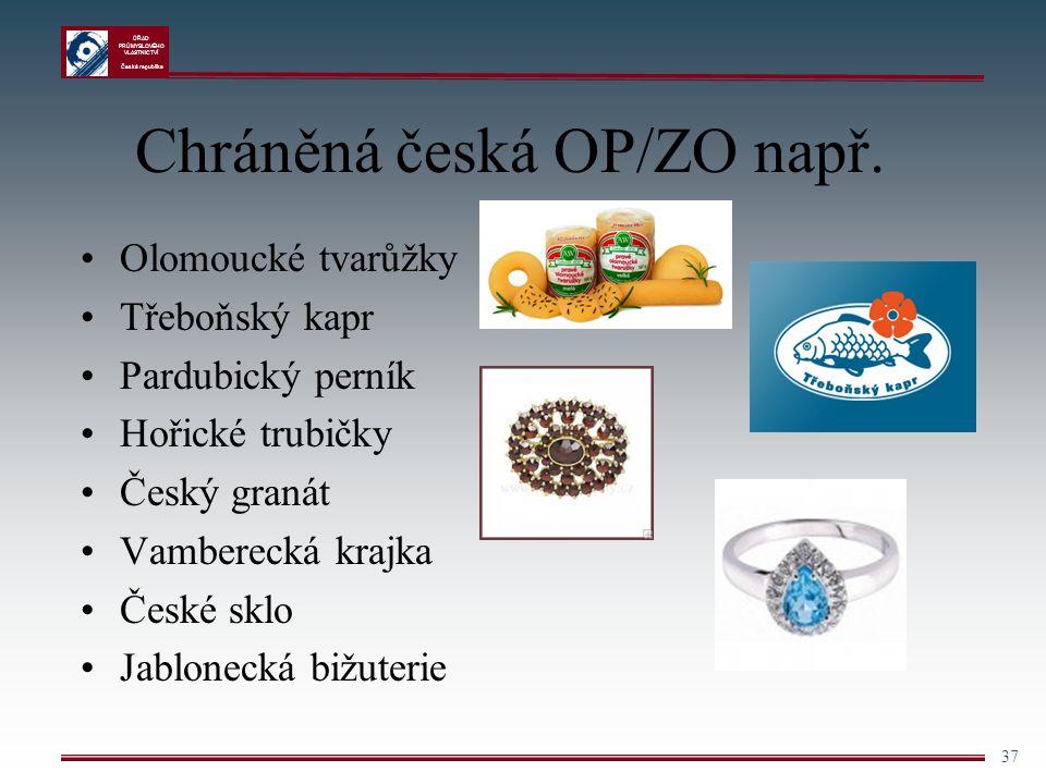 Chráněná česká OP/ZO např.