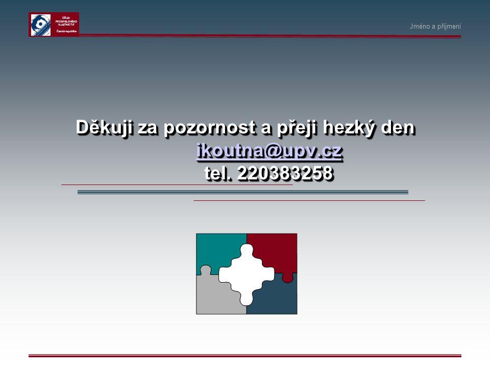 Děkuji za pozornost a přeji hezký den ikoutna@upv.cz tel. 220383258