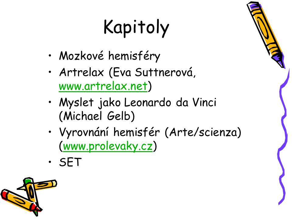 Kapitoly Mozkové hemisféry Artrelax (Eva Suttnerová, www.artrelax.net)