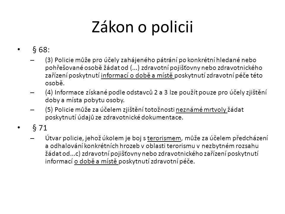 Zákon o policii § 68: