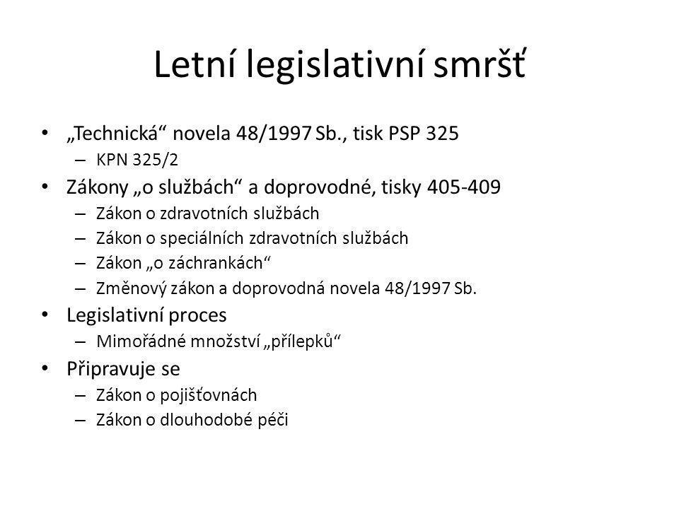 Letní legislativní smršť