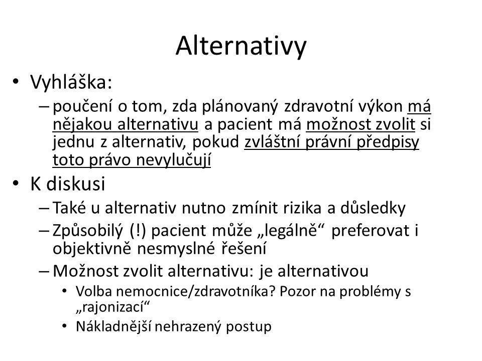 Alternativy Vyhláška: K diskusi