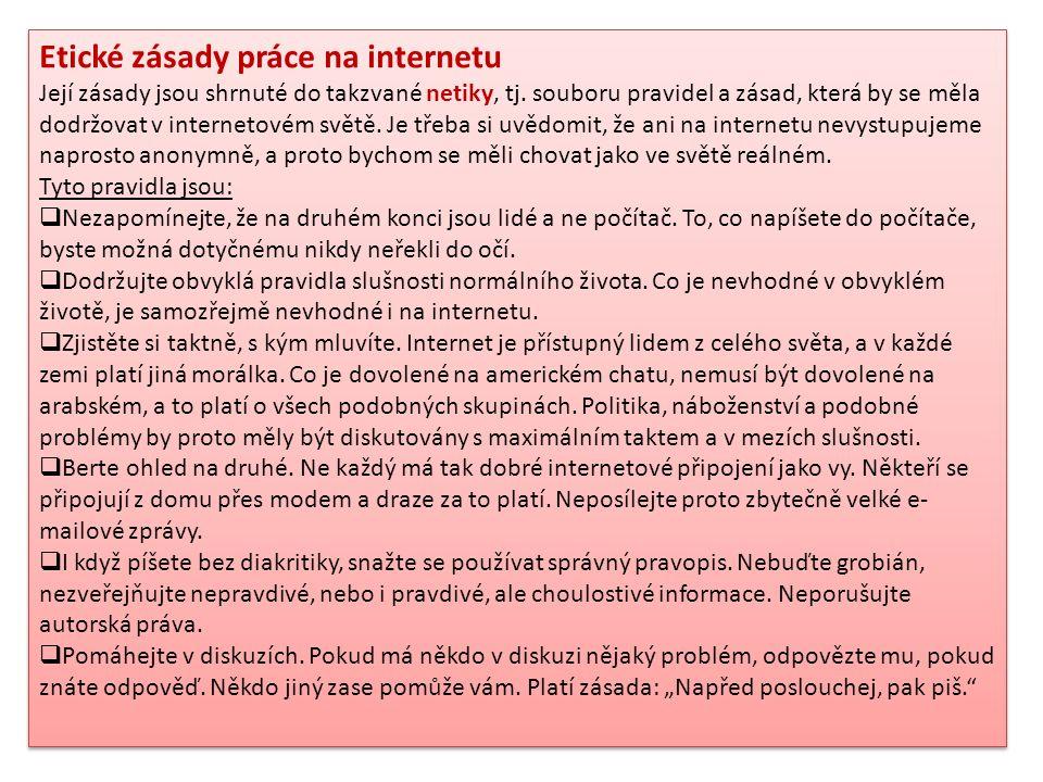 Etické zásady práce na internetu