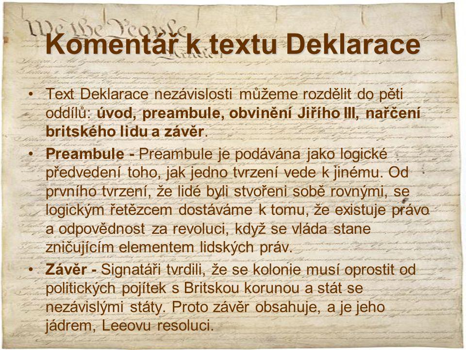 Komentář k textu Deklarace