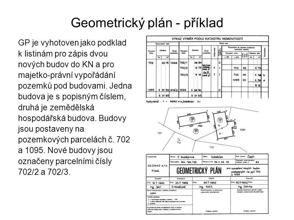 Geometrický plán - příklad