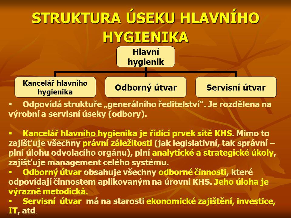 STRUKTURA ÚSEKU HLAVNÍHO HYGIENIKA