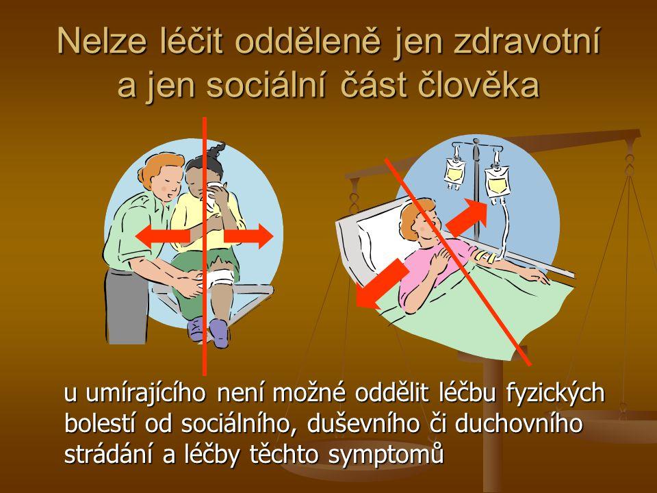 Nelze léčit odděleně jen zdravotní a jen sociální část člověka