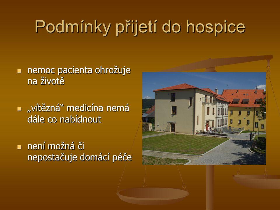 Podmínky přijetí do hospice