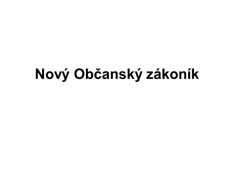 Nový Občanský zákoník