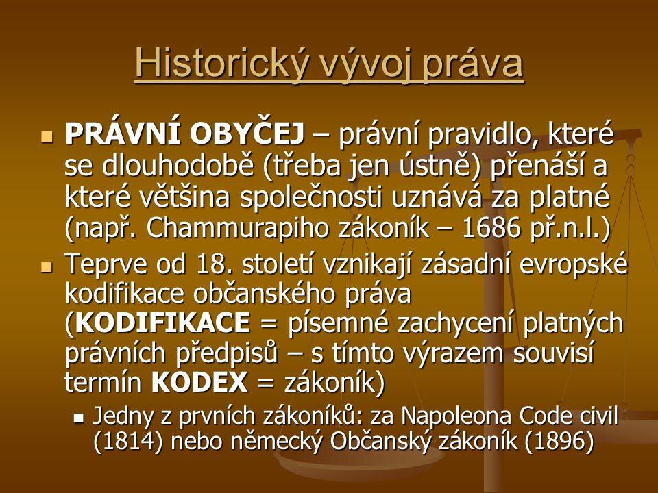 Historický vývoj práva