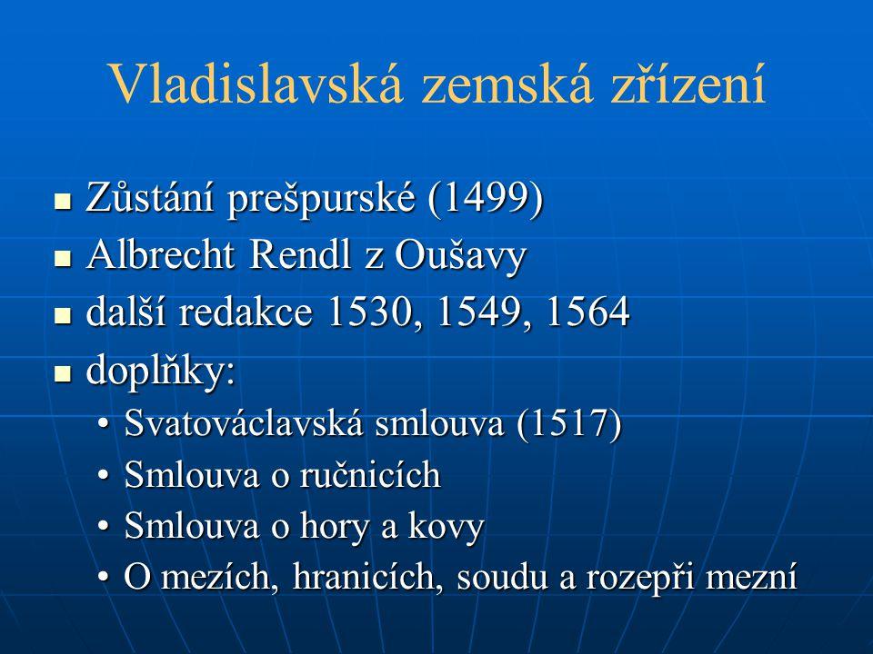 Vladislavská zemská zřízení