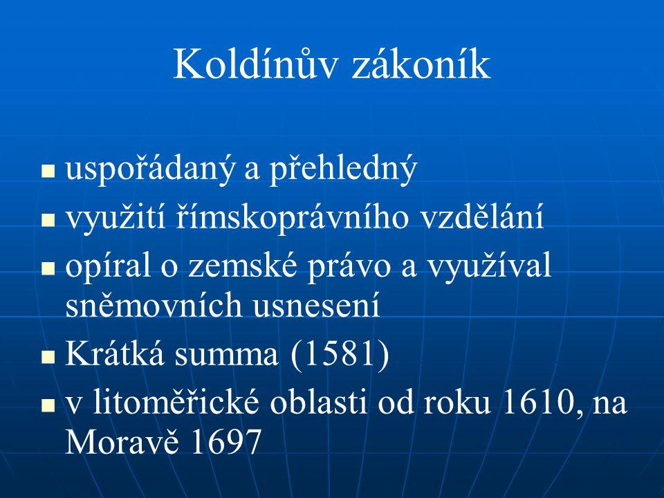 Koldínův zákoník uspořádaný a přehledný