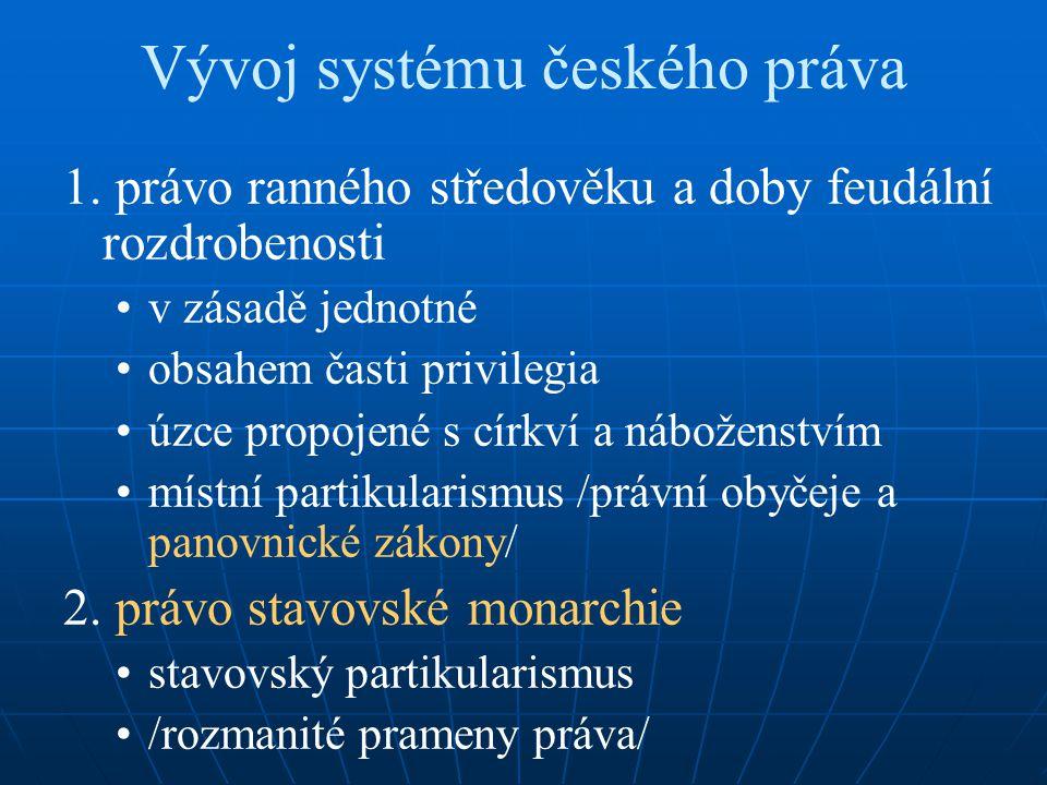 Vývoj systému českého práva