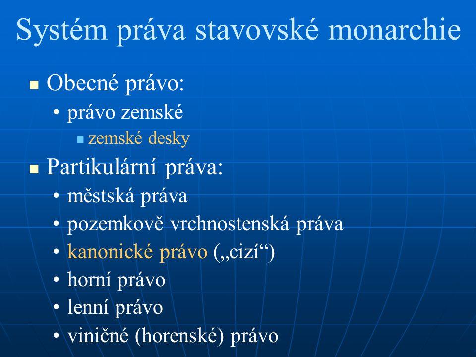 Systém práva stavovské monarchie