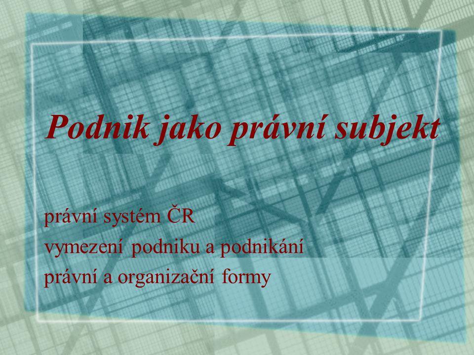 Podnik jako právní subjekt