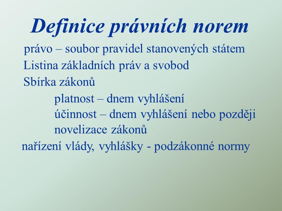 Definice právních norem
