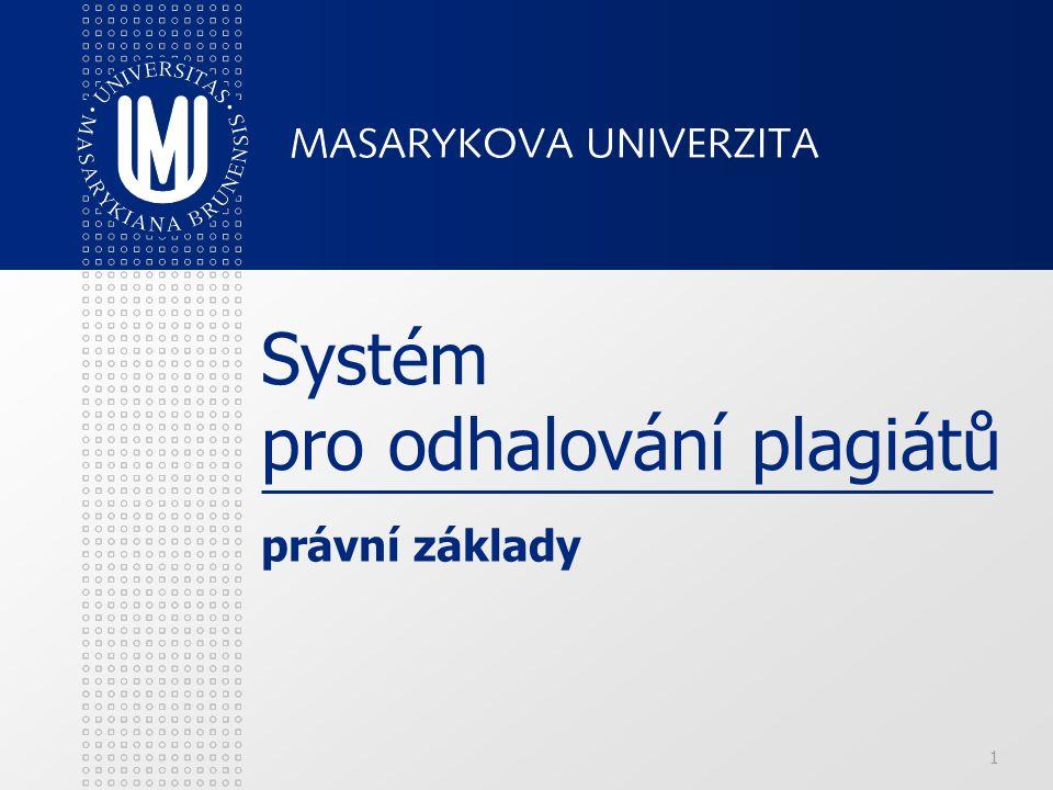 Systém pro odhalování plagiátů
