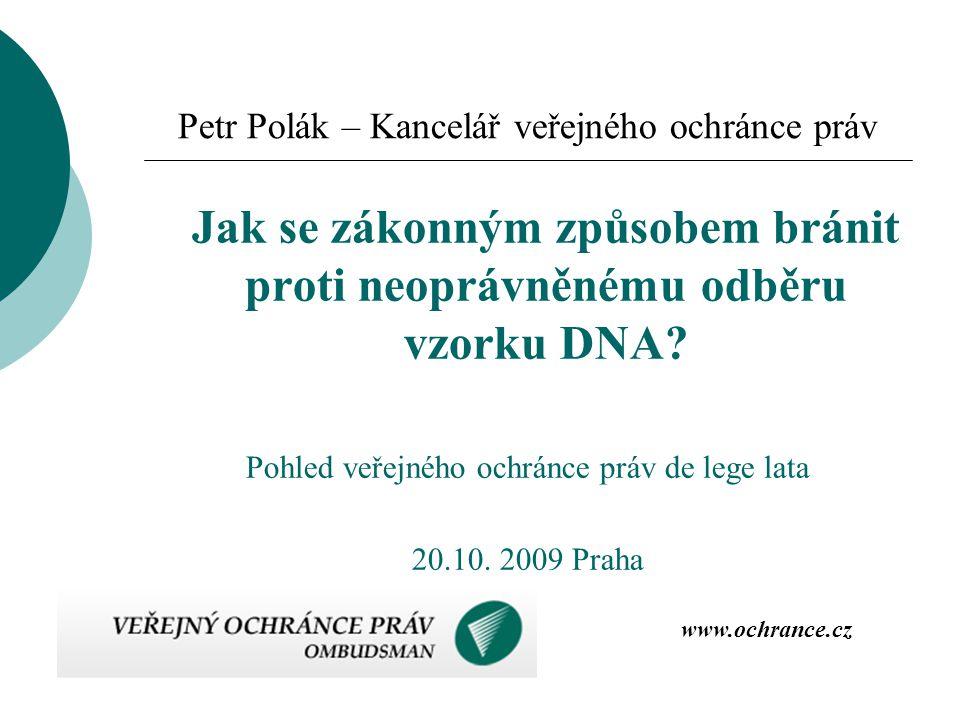 Petr Polák – Kancelář veřejného ochránce práv