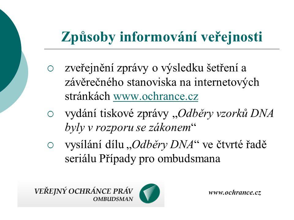 Způsoby informování veřejnosti