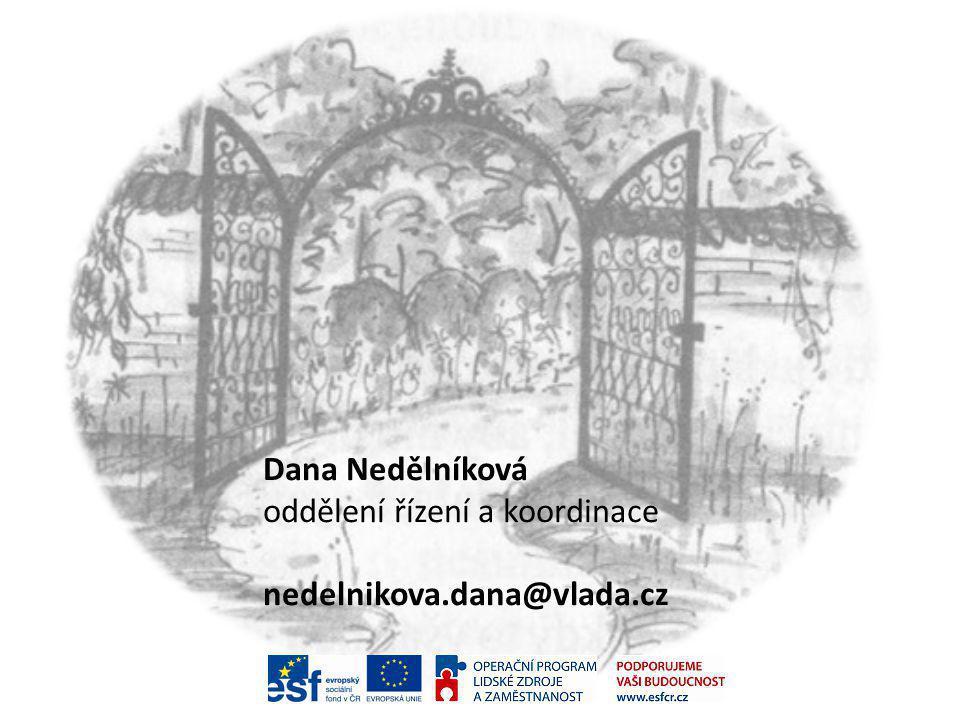 Dana Nedělníková oddělení řízení a koordinace nedelnikova.dana@vlada.cz