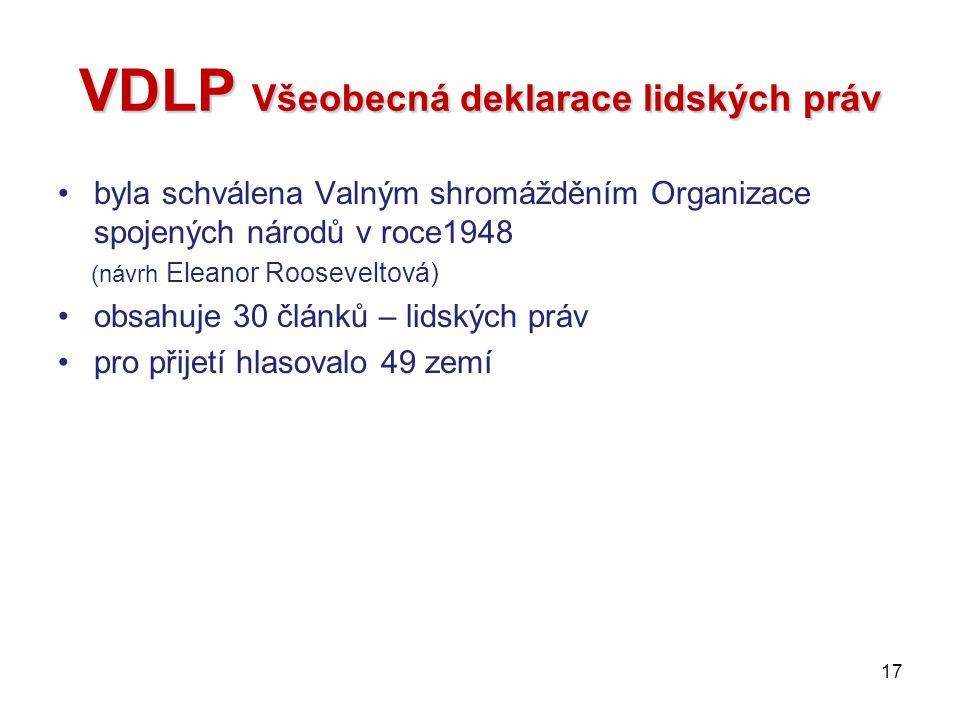 VDLP Všeobecná deklarace lidských práv