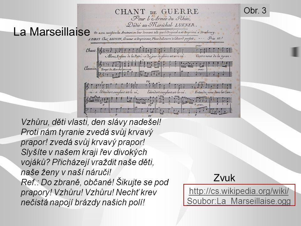 La Marseillaise Zvuk Obr. 3