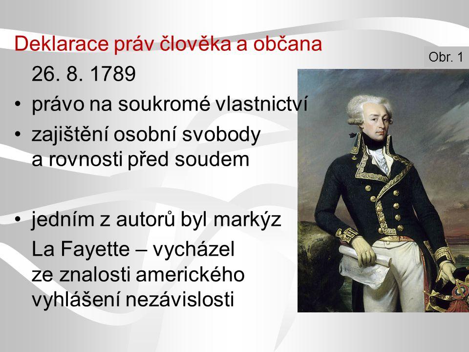 Deklarace práv člověka a občana 26. 8. 1789