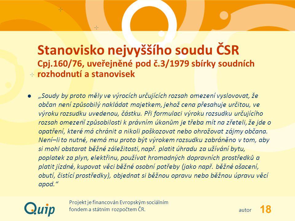 Stanovisko nejvyššího soudu ČSR Cpj. 160/76, uveřejněné pod č