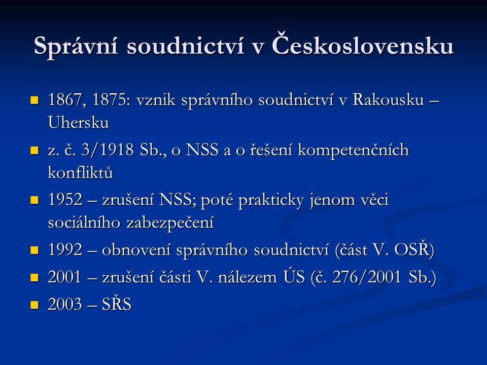 Správní soudnictví v Československu