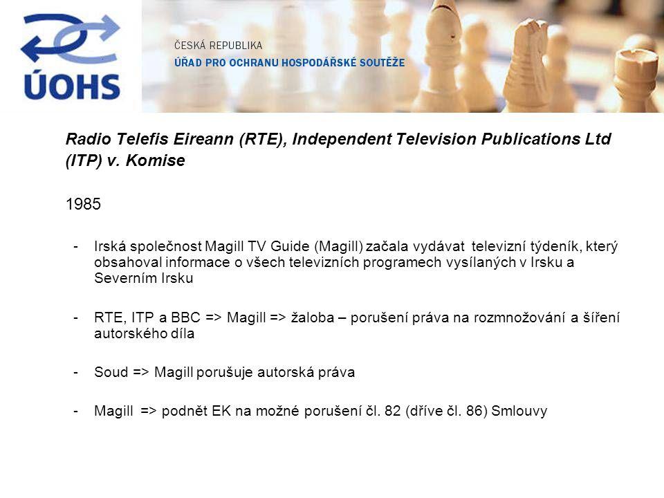 Radio Telefis Eireann (RTE), Independent Television Publications Ltd (ITP) v. Komise