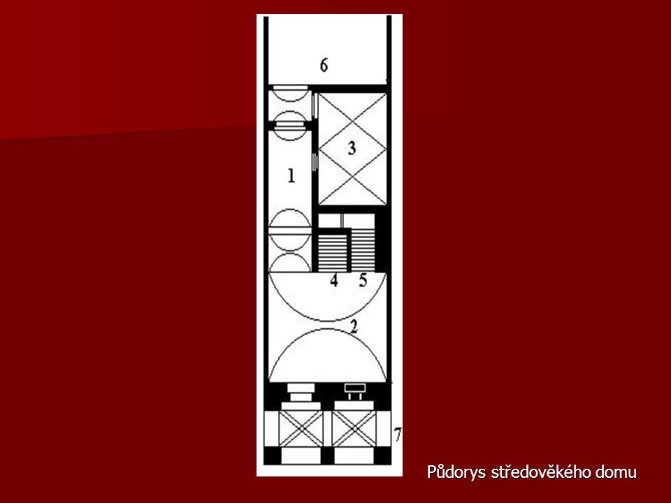 Půdorys středověkého domu