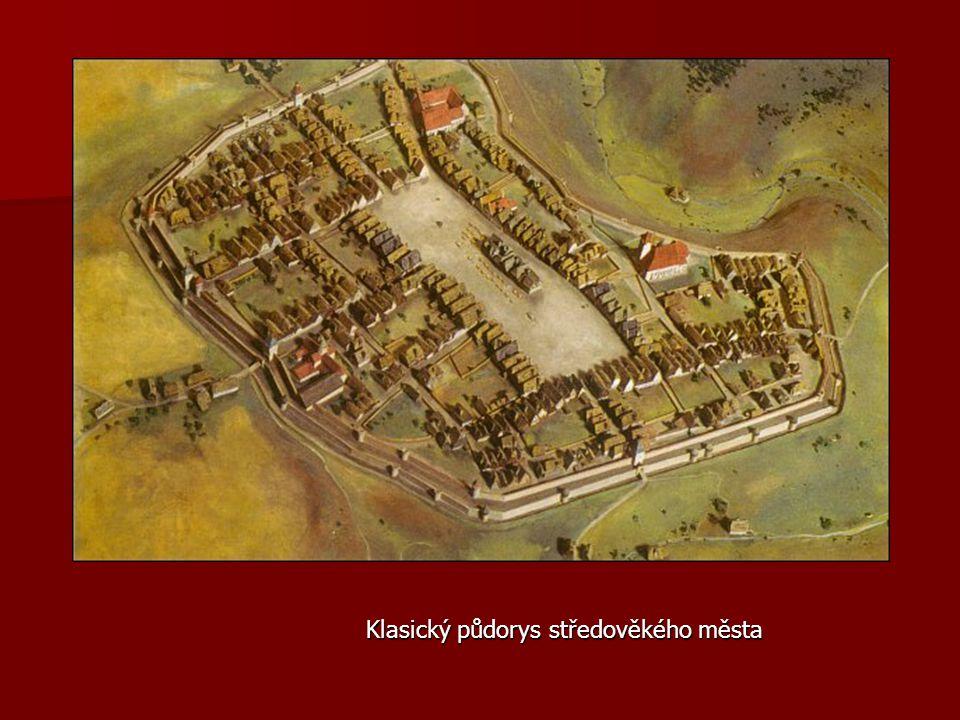Klasický půdorys středověkého města