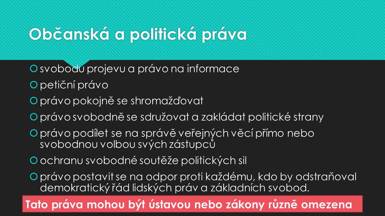 Občanská a politická práva