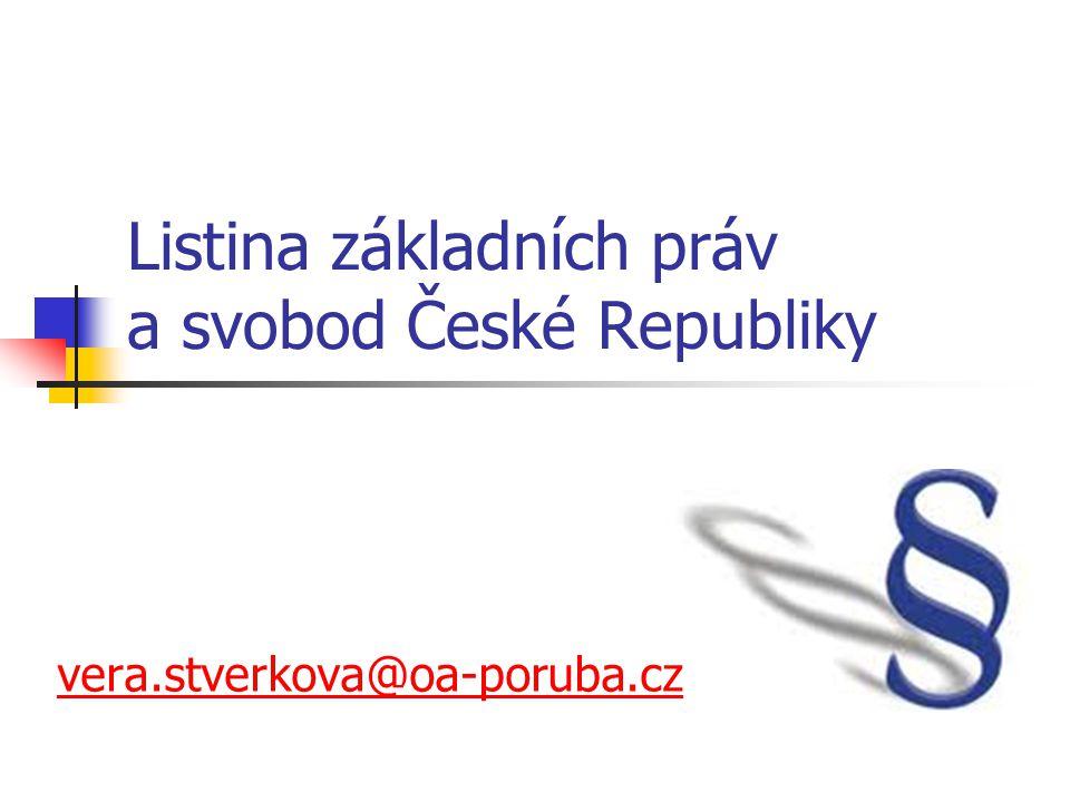Listina základních práv a svobod České Republiky