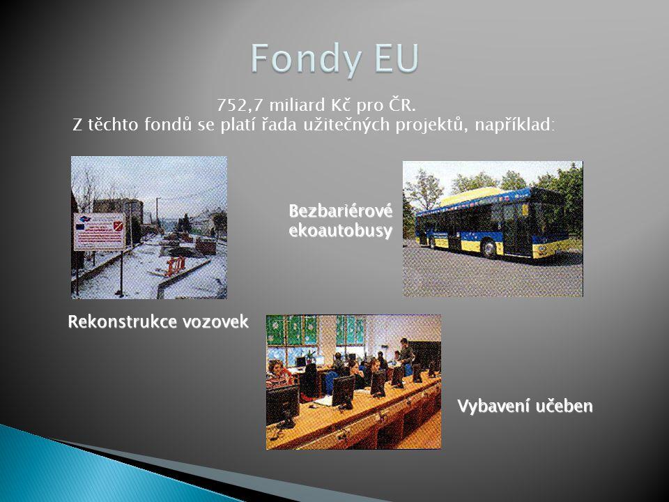 Fondy EU 752,7 miliard Kč pro ČR.