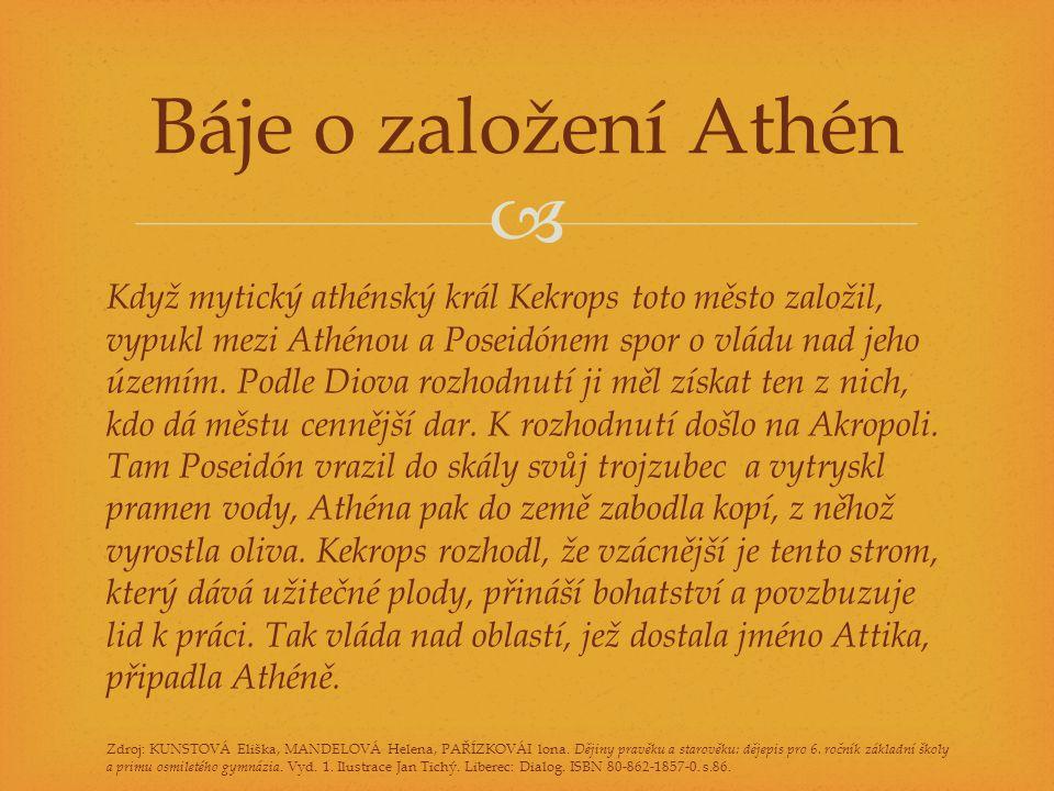 Báje o založení Athén