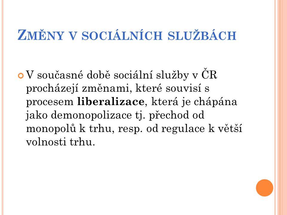Změny v sociálních službách