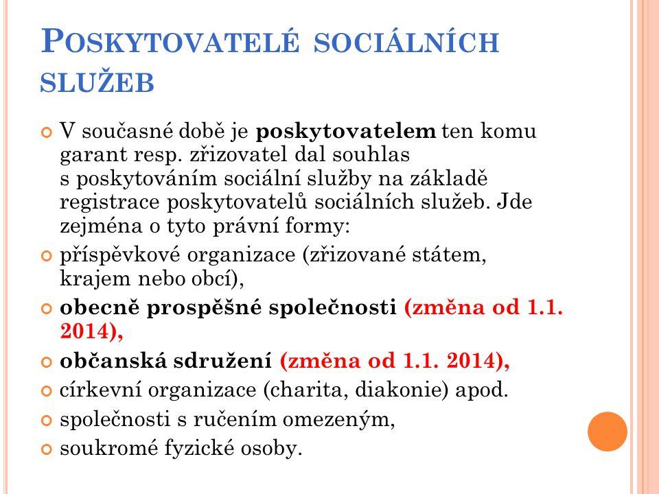 Poskytovatelé sociálních služeb
