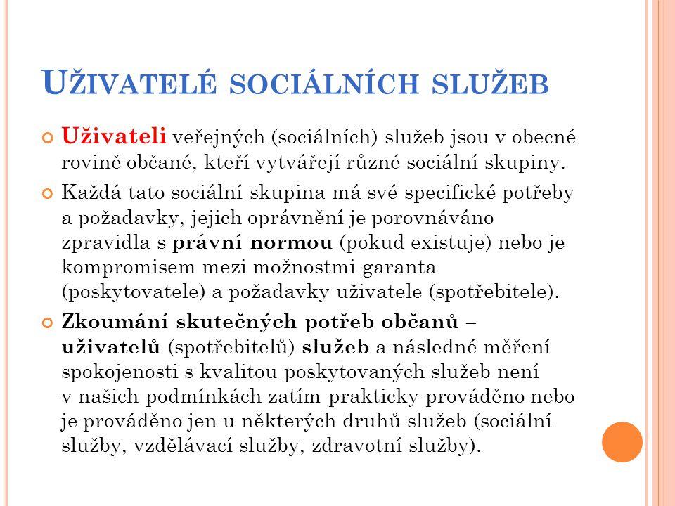 Uživatelé sociálních služeb