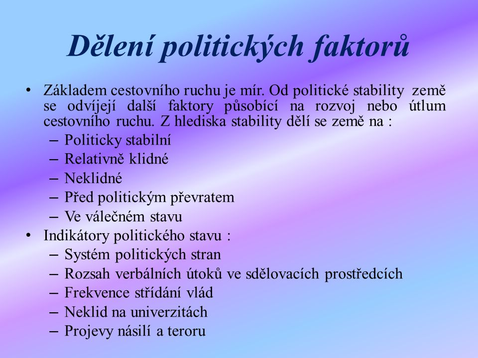 Dělení politických faktorů