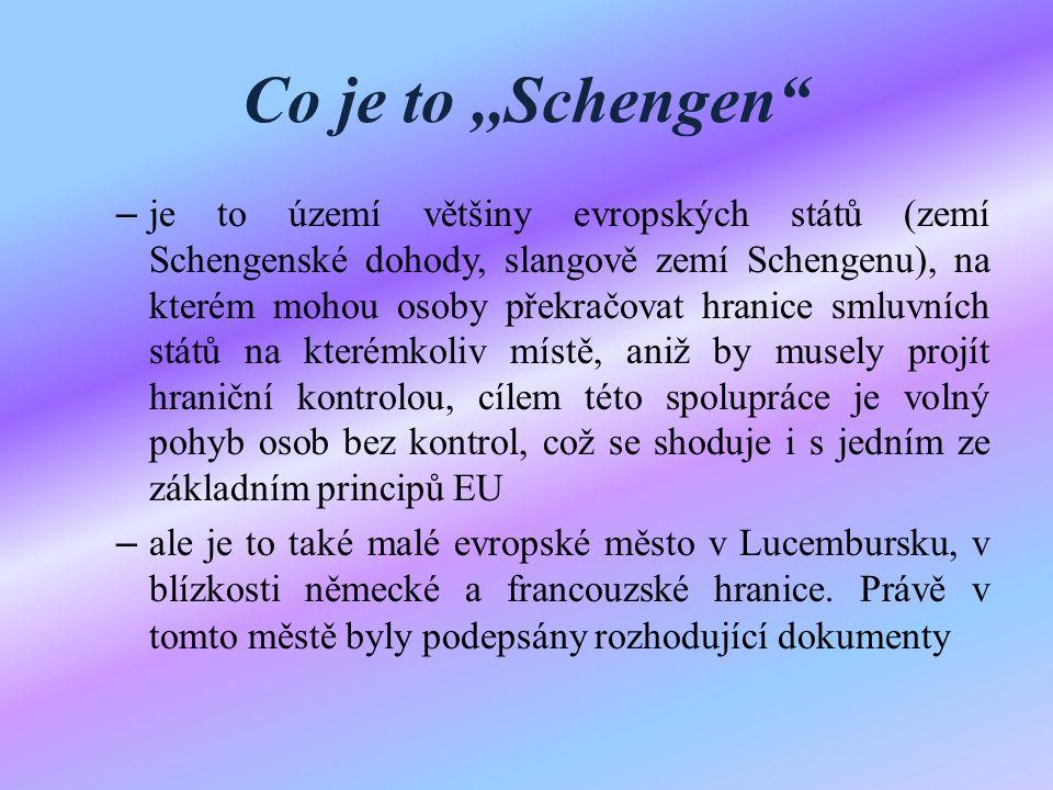 Co je to ,,Schengen