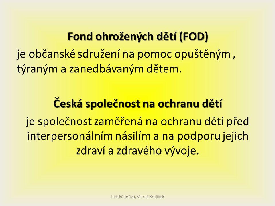 Dětská práva,Marek Krajíček